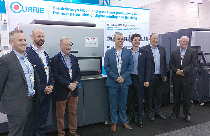 Peacock Bros. and Currie Group at PacPrint 2017.